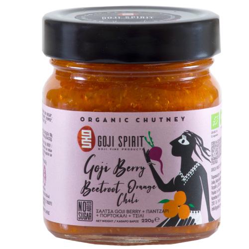 Πικάντικη Σάλτσα 'Chutney με Γκότζι, Παντζάρι, Πορτοκάλι, Τσίλι  (220γρ)