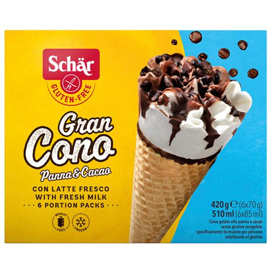 Παγωτό Χωνάκι Κρέμα - Σοκολάτα (6x70γρ)