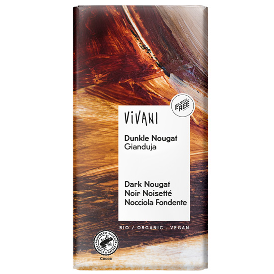 Μαύρη Σοκολάτα με Νουγκατίνα (100γρ)